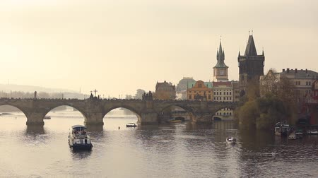 charles bridge : old bridge over the river. Charles bridge, Prague