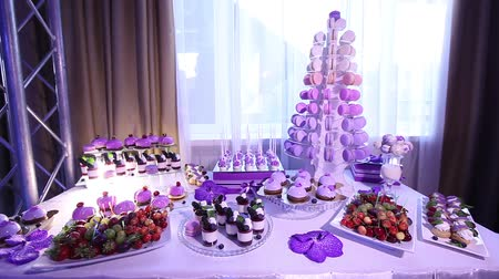 beautifully : Sweets on buffet table, wedding, the table with sweets, dessert buffet, beautiful alcoholic shots