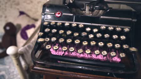 gazeta : Old typewriter in the old room, retro interior, Old style