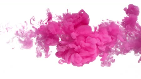 esquerda : Pink ink in water shooting from left to right with high speed camera. Make your next amazing motion design projects or visual effects composites feel organic and pantierly. Use for backgrounds, overlays or displacement maps requiring a unique and cool loo