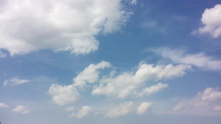 озон : Blue sky background with white clouds. Long shot