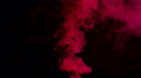 fontain : red bomb smoke on black background