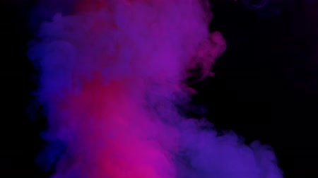 fontain : violet and pink bomb smoke on black background