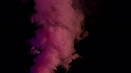 pink bomb smoke on black background