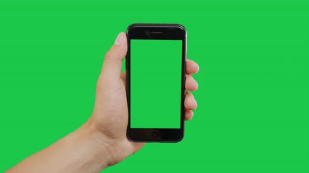 mint fehér : Left Click Smartphone Green Screen. Pointing Finger Clicking On Phone Screen with Green Background. Use in any project that depicts finger, gesture, touchscreen and the like.