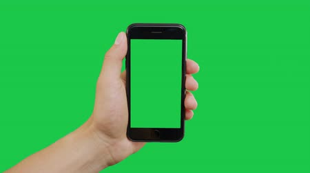 hírnök : Center Click Smartphone Green Screen. Pointing Finger Clicking On Phone Screen with Green Background. Use in any project that depicts finger, gesture, touchscreen and the like.