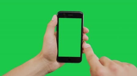 hírnök : Right Click Smartphone Green Screen. Pointing Finger Clicking On Phone Screen with Green Background. Use in any project that depicts finger, gesture, touchscreen and the like.