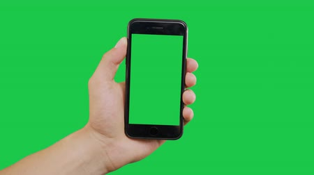 hírnök : Zooming Out Smartphone Green Screen. Pointing Finger Clicking On Phone Screen with Green Background. Use in any project that depicts finger, gesture, touchscreen and the like.
