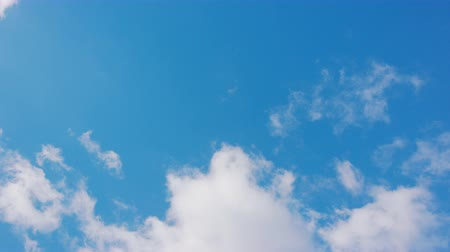 flying video : White clouds floating in the blue sky. Stock Footage