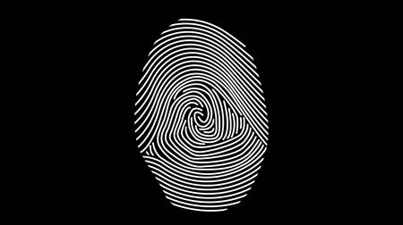 Fingerprint Identity (Alpha Channel) Filmati Stock