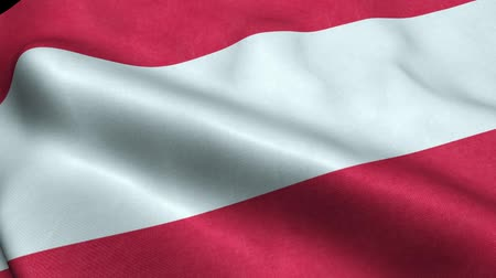 Austria Flag Seamless Looping Waving Animation