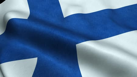 godło : Finland Flag Seamless Looping Waving Animation Wideo