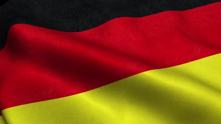 Germany Flag Seamless Looping Waving Animation