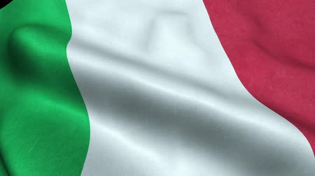 Italy Flag Seamless Looping Waving Animation Stock Footage