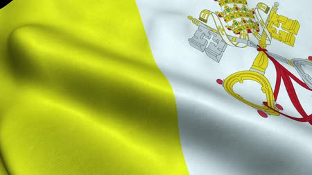 Vatican Flag Seamless Looping Waving Animation