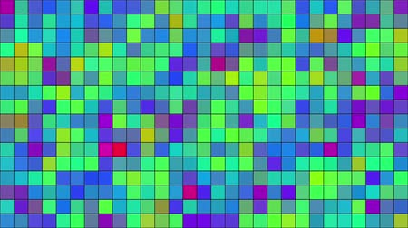 mozaik : Computer generated abstract video animation of seamless loop mosaic random moving Stok Video