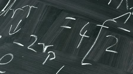 tablica : Animation Of Equations On A School Blackboard