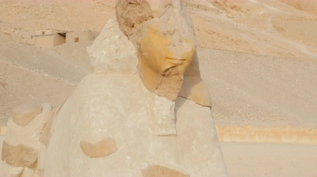 esfinge : the Ancient Sculpture of the Sphinx Stock Footage