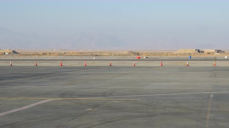 Aerodrome runway in the desert