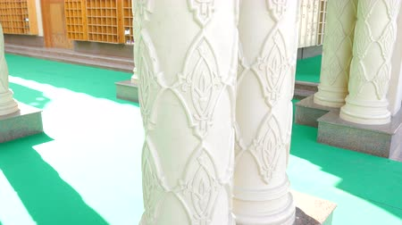Close-Up of a White Column in the Mosque