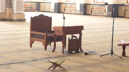 The Wooden Bench in The Prayer Hall