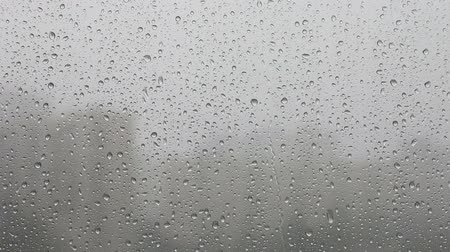 gota de chuva : rain on window Stock Footage