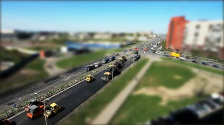 toy : Construction of roads in the city Stock Footage