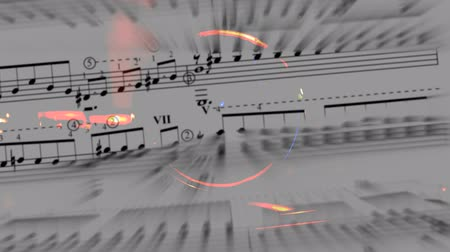 notes : music and phonograph background  Stock Footage