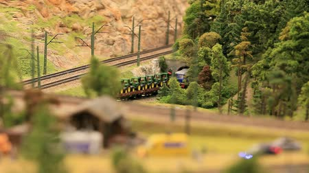 toy : miniature railway  moving miniature model trains