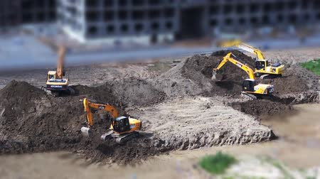 экскаватор : Excavation Construction Site