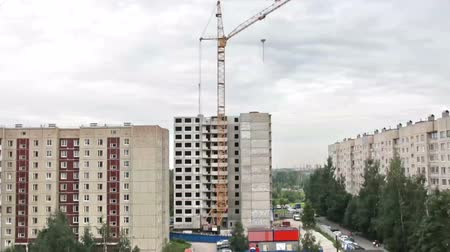 architektura : Building Fast construction HD1080:   construction that lasted 2 years Time Lapse