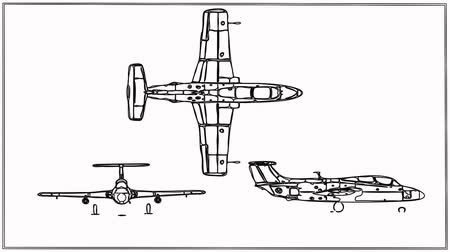 aeroespaço : Fighter Plane  Technical Drawing blueprints