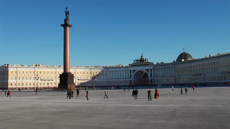 alexander column : Landmarks of St. Petersburg  Alexander Column, Palace Square, Arch of the General Staff