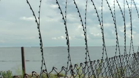 farpa : seascape View from the behind the barbed wire