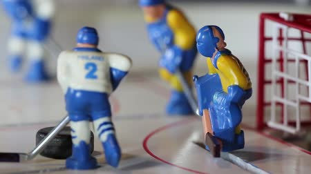 házení : ice hockey player scored a goal with the sound