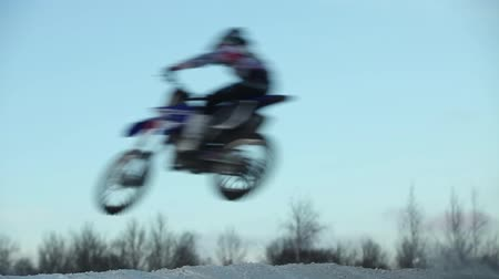 Motocross high jump moth blur