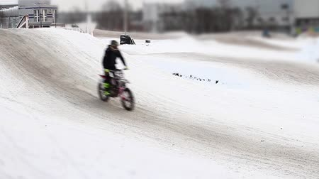 Winter motocross track time lapse