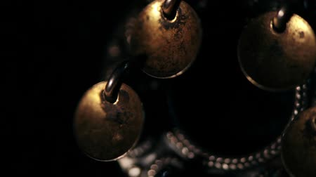 shaman : Shamanic tambourine frightens evil spirits, full moon trance, abstract background