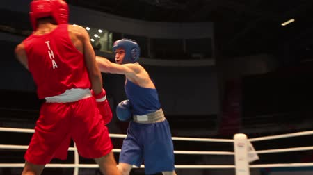 Boxing match close to sequence St. Petersburg, Russia, November 23, 2016 Youth World Boxing Championships