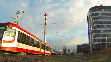 April 22, 2017 :- St. Petersburg, Russia City tram time lapse.