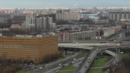 st petersburg : St. Petersburg aerial view time lapse camera motion