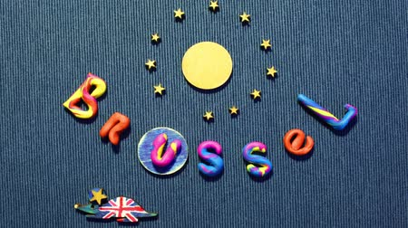 união : Brexit ,European Council, disintegration concept animation Stock Footage