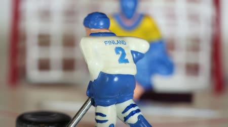svéd : attack ice hockey match, Finland scores puck, table game