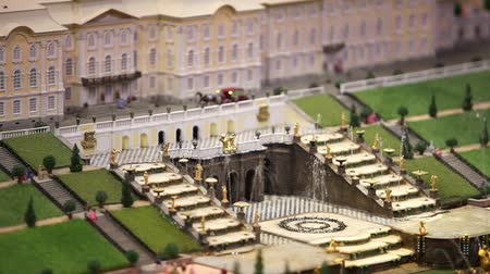 jardim : Royal Palace with a fountain miniature model Vídeos