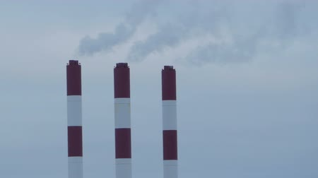 vertical stripes : striped chimneys thermal power station time lapse