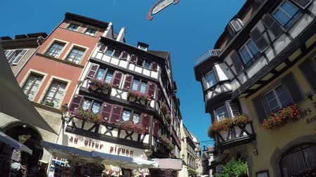 post and beam construction : Colmar, Alsace, France - Medieval old town, half-timbered houses.