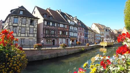 alsatian : Colmar, Alsace, France, Medieval old town. Its half-timbered houses and channels. Village called small Venice.