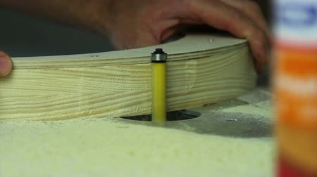 restorer : strong hands work on a milling table Stock Footage