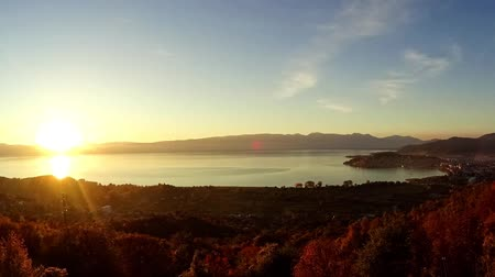 ohrid : Lake Ohrid seen from Velestovo, Macedonia