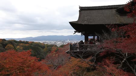 KYOTO, JAPAN - NOVEMBER 30: The large veranda of Kiyomizu Temple on November 30, 2012 in Kyoto, Japan. This temple is part of the Historic Monuments of Ancient Kyoto UNESCO World Heritage site.